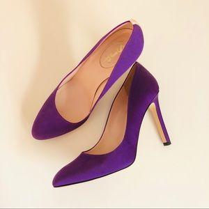 SJP Lady 10mm heels in purple, size 8.5